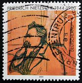 GERMANY - CIRCA 2000: A stamp printed in Germany shows Friedrich Nietzsche circa 2000