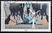 Stamp printed in Germany shows Ballet of Pyotr Tchaikovsky