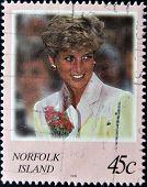 NORFOLK ISLAND - CIRCA 2008: A stamp printed in Norfolk Island shows Diana Princess of Wales