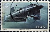 A stamp printed in RSA shows submarine Duikboot