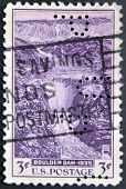 United States Of America - Circa 1936: A Stamp Printed By Usa Shows A Scenic Of Boulder Dam