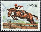 UNITED STATES OF AMERICA - CIRCA 1993: A stamp printed in USA shows Steeplechase circa 1993
