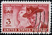 Usa - Circa 1949: A Stamp Printed In The Usa Showing Final National Encampment Of The Gar
