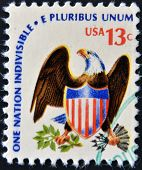 A stamp printed in USA from the