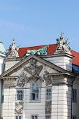 Architectural details at Hofburg palace in Vienna