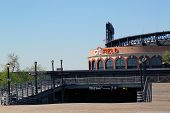 Citi Field, home of major league baseball team the New York Mets and Line 7 Subway entrance