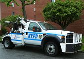 NYPD Abschleppwagen in Brooklyn, New York