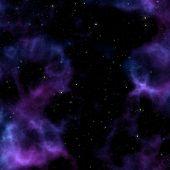 Постер, плакат: Фиолетовый Космическая туманность