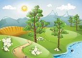 Peaceful rural landscape