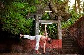 Yoga Near Temple