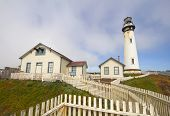 The Pigeon Point Lighthouse On The Central Coast Of California