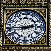 Big Ben Clock Face Detail In London