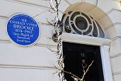 Charles Vyner Brooke Blue Plaque In London