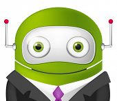 Avatar Cartoon Character Cute Robot. Businessmen Cross Hands. Vector EPS 10.