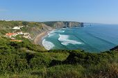 arrifana beach in South-West Alentejo and Costa Vicentina Natural Park, Portugal afternoon-surf spot