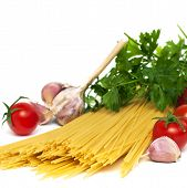 Spaghetti Preparation, Square Image