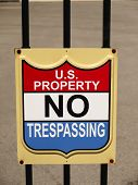 Sign Us Property No Trespassing