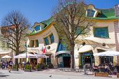 SOPOT, POLAND - MAY 06.2013: The Crooked house on the main street of Monte Cassino in Sopot, Poland.