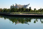 Public Park And Exotic Architecture