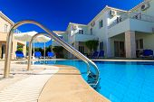 picture of villa  - Exterior of a luxurious villa at Greek resort - JPG