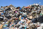 stock photo of reuse  - Pile of domestic garbage in public landfill - JPG