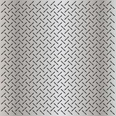 pic of metal grate  - High resolution concept conceptual gray metal stainless steel aluminum perforated pattern texture mesh background as metaphor to industrial - JPG