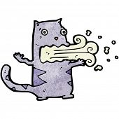picture of belching  - cartoon belching cat - JPG