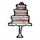 cartoon cake on cakestand