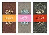 Three Ornamental Invitation Cards for Web or Print