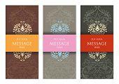 Three Ornamental Invitation Cards for Web or Print