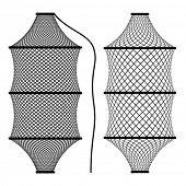 vector fishing net coop trap fyke