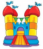 stock photo of inflatable slide  - Play and fun theme image 2  - JPG