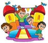 image of inflatable slide  - Kids play theme image 9  - JPG