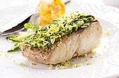 picture of fish skin  - fish fillet with vegetable - JPG