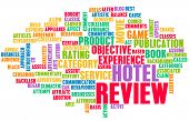Hotel Review Word Cloud as a Concept