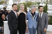 CANNES - MAY 15: Leonardo DiCaprio, Carey Mulligan, Baz Luhrmann, Tobey Maguire at the photocall for