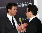 LOS ANGELES - MAY 14:  Karl Urban and JJ Abrams arrive at the