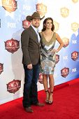 LAS VEGAS - DEC 10:  Ricky Stenhouse Jr., Danica Patrick at the 2013 American Country Awards at Mand