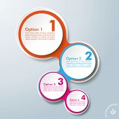 Infographic Design Colored Chains White Circles 4 Options