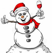 Celebrating Snowman