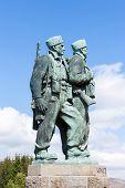 Commando Memorial at Spean Bridge, Highlands, Scotland