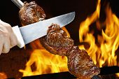 stock photo of bbq party  - Brazilian Picanha - JPG