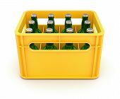 Drink crate with beer bottles