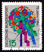 Postage Stamp Germany 1965 Bouquet Of Flowers