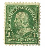 United States Stamp of Benjamin Franklin