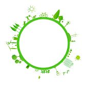 image of sustainable development  - The green earth consist of tree - JPG