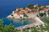 Sveti Stefan is a islet nearby Budva in Montenegro