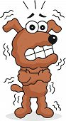 stock photo of shivering  - Retro cartoon style funny dog is shivering - JPG