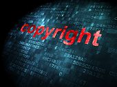 Law concept: Copyright on digital background