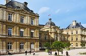PARIS, FRANCE- MAY 15: Luxembourg Palace in Jardin du Luxembourg on May 15, 2013 in Paris, France. W